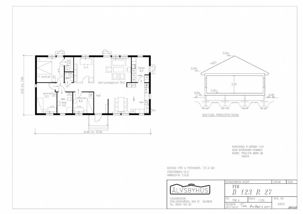 Planritning Ligger även som pdf fil under dokument