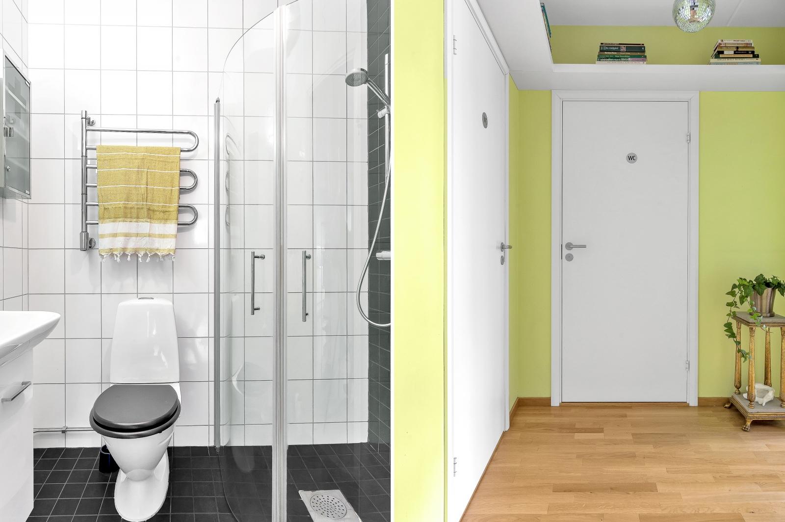 Badrum och inre hall